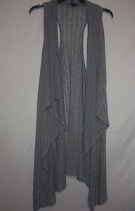 TORRID Gray Waterfall Vest 3X Plus